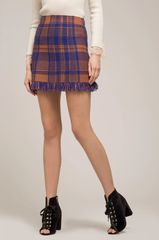 Moon River Not Your Average Plaid Skirt