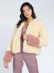 Textured Color Block Coat