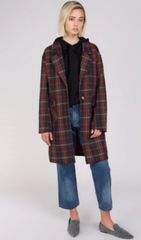 Plaid Mid-Length Blazer