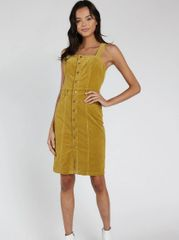 Honey Punch Taryn Corduroy Overall Dress