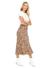 ASTR the Label Leopard Print Midi Skirt
