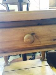 smaller solid pine coffee table -- matching pieces available
