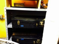 vintage underbed storage boxes two available
