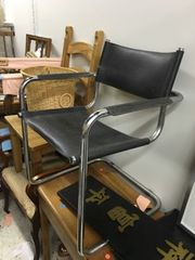 vintage chrome occasional chair