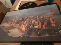 framed vintage NYC poster WorldTrade Center