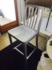 like new crate and barrel steel/aluminum bar stool two available