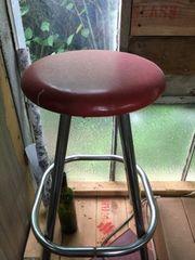 vintage red stool