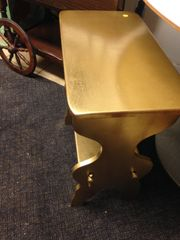 GOLD coffee table, occasional or side table