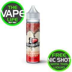 IVG Desserts Strawberry Pastry 50ml + 10ml Nic Shot Free