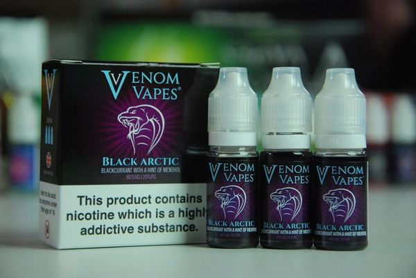 Black Arctic Venom Vapes 3x10ml 80/20 E-Liquid