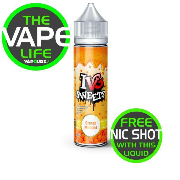 IVG Sweets Orange Millions + 10ml Nic Shot Free