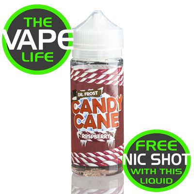 Dr Frost Candy Cane Raspberry 100ml + 2 nic shots
