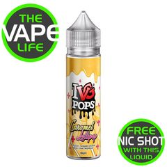 IVG Pops Caramel Lollipop + Nic Shot