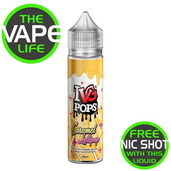 IVG Pops Caramel Lollipop + Nic Shot
