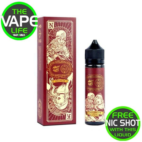 Nasty Dillinger 50ml with free nic shot