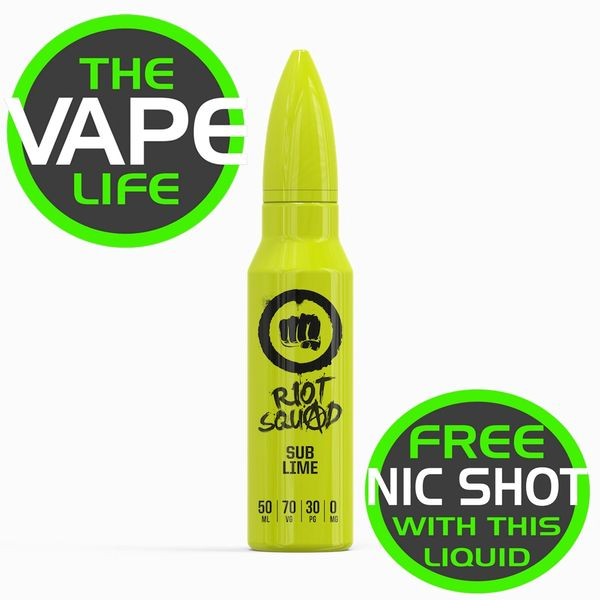 Riot Squad Sub Lime 50ml + nic shot