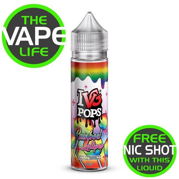 IVG Pops Rainbow Lollipop + Nic Shot