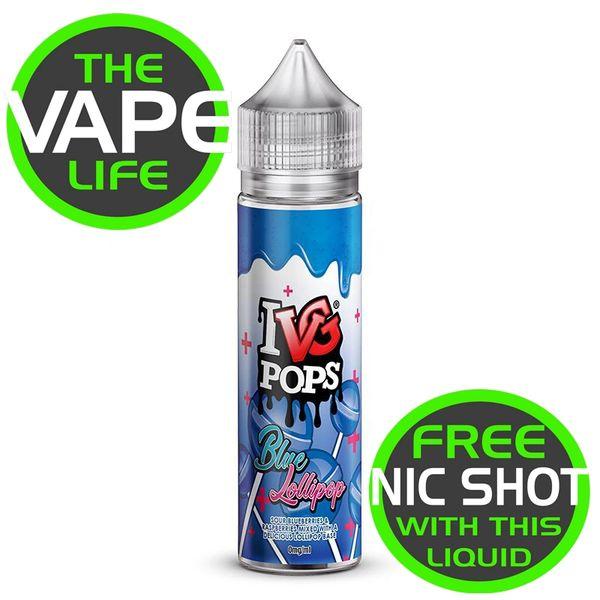IVG Pops Blue Lollipop + Nic Shot