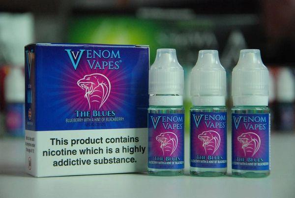 The Blues Venom Vapes 3 x 10ml 80/20 E-Liquid