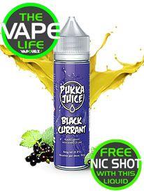 Pukka Juice Blackcurrant free 10ml nic shot