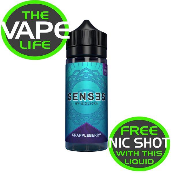 Senses Grappleberry 100ml + 2 nic shots