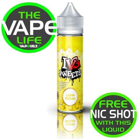IVG Sweets Lemon Millions + Free Nic Shot