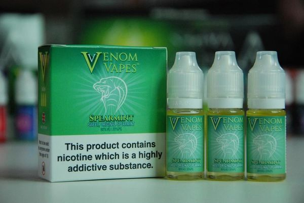Spearmint Venom Vapes 3 x 10ml 80/20 E-Liquid