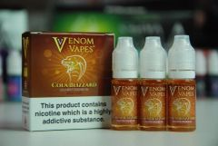 Cola Blizzard Venom Vapes 3 x 10ml80/20 E-Liquid