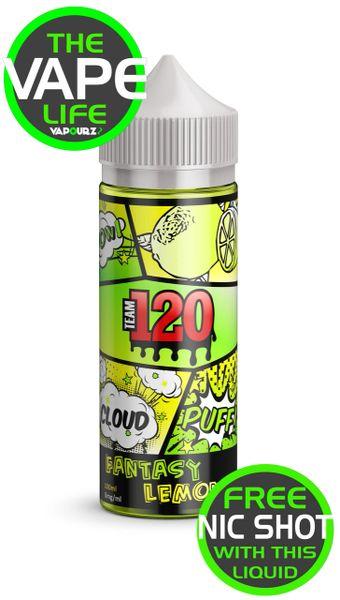 Team 120 Fantasy Lemon with 2 nic shots