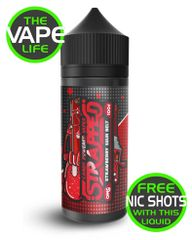Strawberry Sour Belt Strapped 100ml + 2 nic shots free
