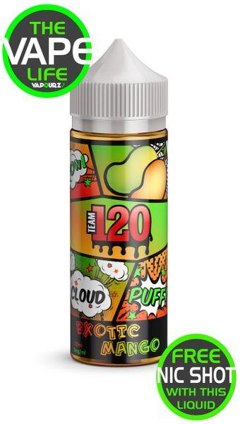 Team 120 Exotic Mango with 2 nic shots