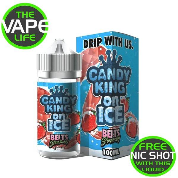 Candy King On Ice Strawberry Belts 120ml + 2 nic shots