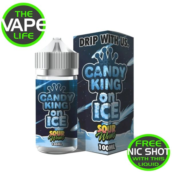 Candy King On Ice Sour Worms 120ml + 2 nic shots
