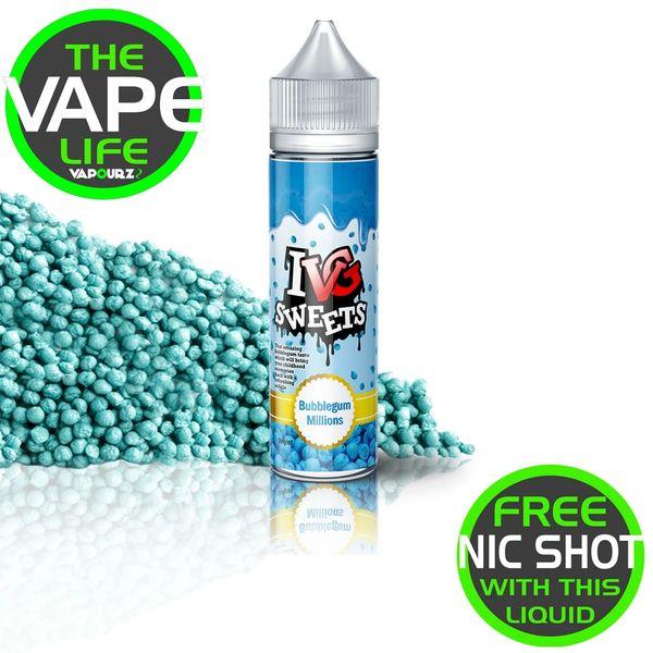 IVG Bubblegum Millions 50ml + 10ml Nic Shot free