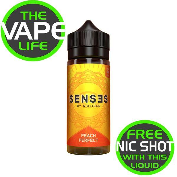Senses Peach Perfect 100ml + 2 nic shots