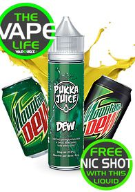 Pukka Juice Dew free 10ml nic shot