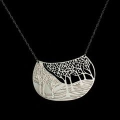 """Winter"" - Silver Plated Stainless Steel Pendant"