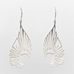 """Radiate"" Earrings- Silver Plated Stainless Steel"