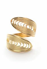 Adjustable Brass Ring-Gyro Design