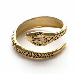 Brass Adjustable Serpent Ring