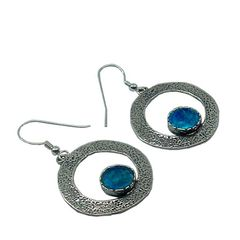 Ancient Roman Glass Hoop Earrings