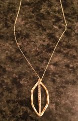 18k Gold Plated Teardrop Necklace with Swarovski Crystals