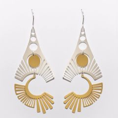 """Radiate""-Mixed Gold and Silver Plated Earrings"