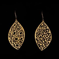 """Edge"" Earrings Gold Plated Stainless Steel"
