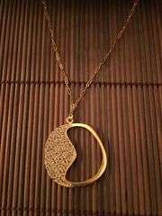 18K Gold Plated Half Moon Necklace