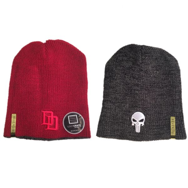 Marvel Comics - Daredevil   The Punisher Reversible Beanie Hat ... 0078dab7754