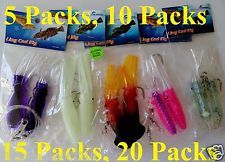 "5 Packs 4.5"" Ling Cod Squid Rig Two Bulb Rigged"