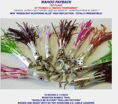 "WAHOO PAYBACK JET ""10""x1.5"" 1ST Place LURES!"