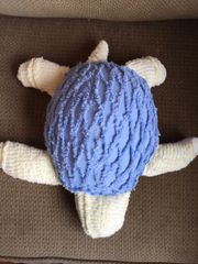 Vintage Chenille Sea Turtle