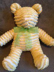 Mustard Yellow Vintage Chenille Teddy Bear